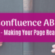 Confluence ABC 1: How to make your page readable?